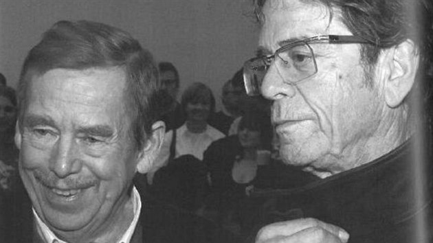 Václav Havel a Lou Reed v roce 2005 (repro z knihy Jeremy Reed: Waiting for the Man)