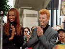 Iman a David Bowie (Los Angeles, 12. února 1997)
