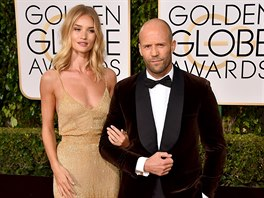 Rosie Huntington-Whiteleyová a Jason Statham (Los Angeles, 10. ledna 2016)