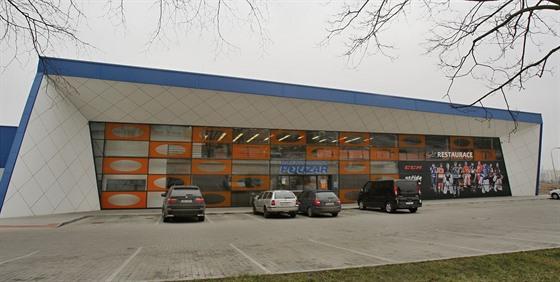 Hokejové centrum Pouzar stojí u českobudějovického sídliště Máj.