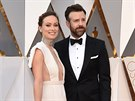 Olivia Wilde a Jason Sudeikis (Los Angeles, 28. února 2016)