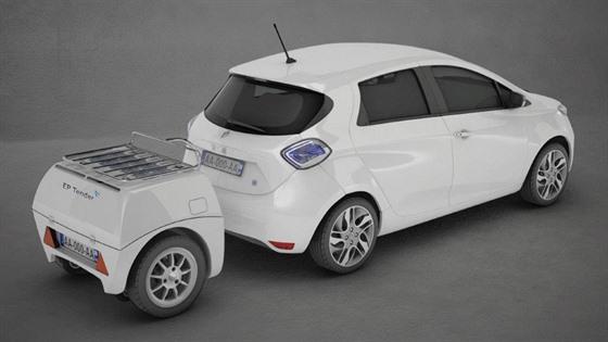Příves s elektrocentrálou pro nabíjení elektromobilu