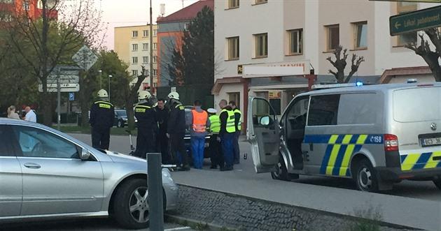 Nehoda se stala v ulici Svobody v centru Třeboně.