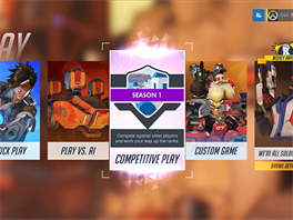 Competitive Play v Overwatch