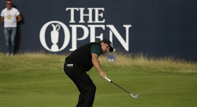 Golfista Phil Mickelson na British Open