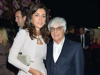 Fabiana Flosiová a Bernie Ecclestone (Londýn, 4. července 2012)