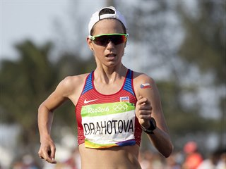 Anežka Drahotová došla v olympijském závodu žen v chůzi na 20 km na desátém...