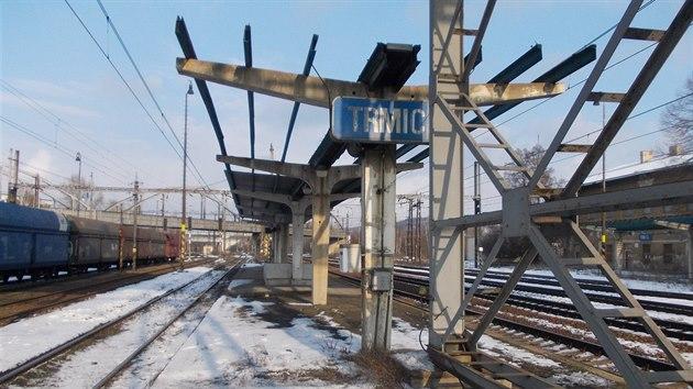 Železniční stanice Trmice.