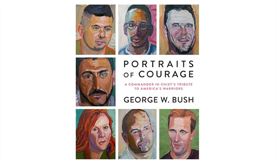 Obal Bushovy knihy Portraits of courage
