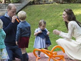 William, George, Charlotte a Kate (Kanada, 29. září 2016)