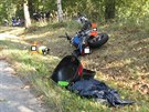 Motorkář nepřežil nehodu, která se stala za Třeboní směrem na Jindřichův Hradec.