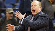 Tom Thibodeau se hněvá na basketbalisty Minnesoty.