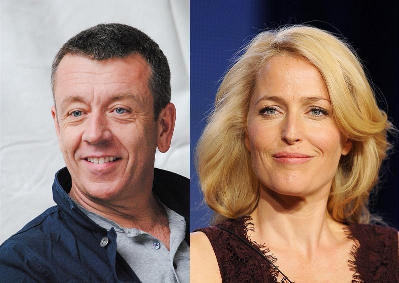 Peter Morgan a Gillian Andersonová