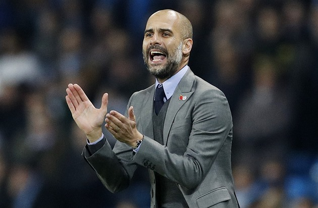 Pep Guardiola, trenér Manchesteru City.