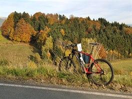 Před příjezdem do Bischofsreutu se otevře pohled směrem k české hranici.