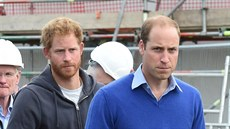 Princ Harry a princ William (Manchester, 23. září 2015)
