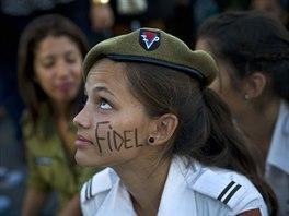 Pietní shromáždění na památku Fidela Castra v centru Havany (29. listopadu 2016)