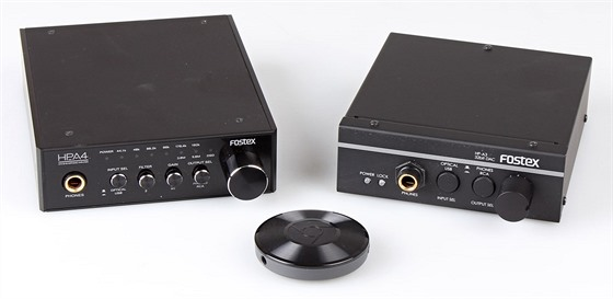Chromecast Audio a Fostex HP-A3 a HP-A4.