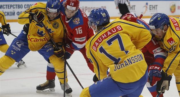4cc871db2d5c4 Hokejisté Švédska otočili zápas v Moskvě a slaví výhru nad Ruskem ...