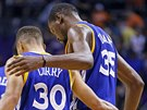 Stephen Curry a Kevin Durant, parťáci z Golden State