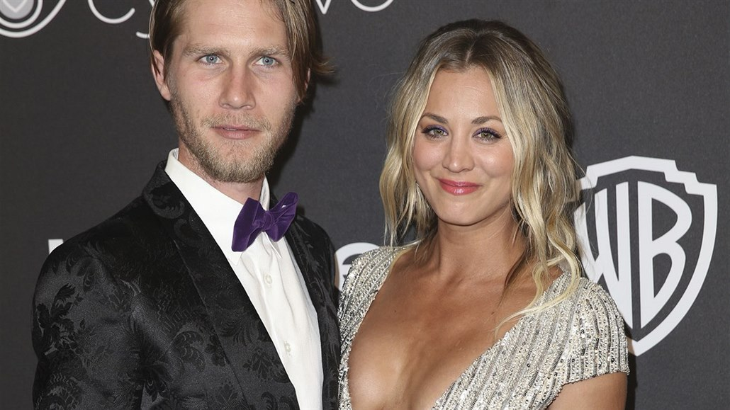Karl Cook a Kaley Cuoco (Beverly Hills, 8. ledna 2017)