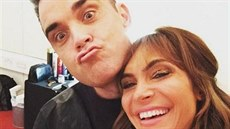 Ayda Fieldová a její partner Robbie Williams (2016)