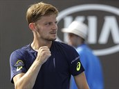 David Goffin ve druhém kole Australian Open.