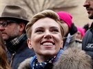 Scarlett Johanssonová na pochodu Women's March (Washington, 21. ledna 2017)