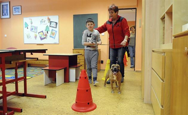 Hana Radovesnická chodí se svými psy pravidelně i mezi postižené děti. Ty pod...
