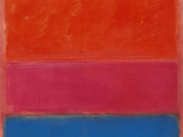 Mark Rothko: No 1 (Royal Red and Blue) (1954, olej na plátně)