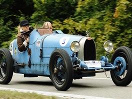 Dnešního obnoveného závodu z Brna do Sobešic se s Bugatti T37 pravidelně...