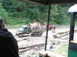 Dřevo a zase dřevo. Tahle oblast je díky němu živa. A taky díky turistům.