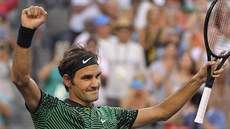 Roger Federer na turnaji v Indian Wells.