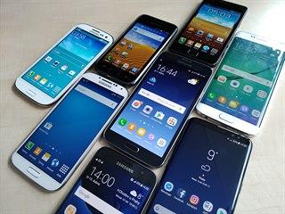 Všechny samsungy řady Galaxy S