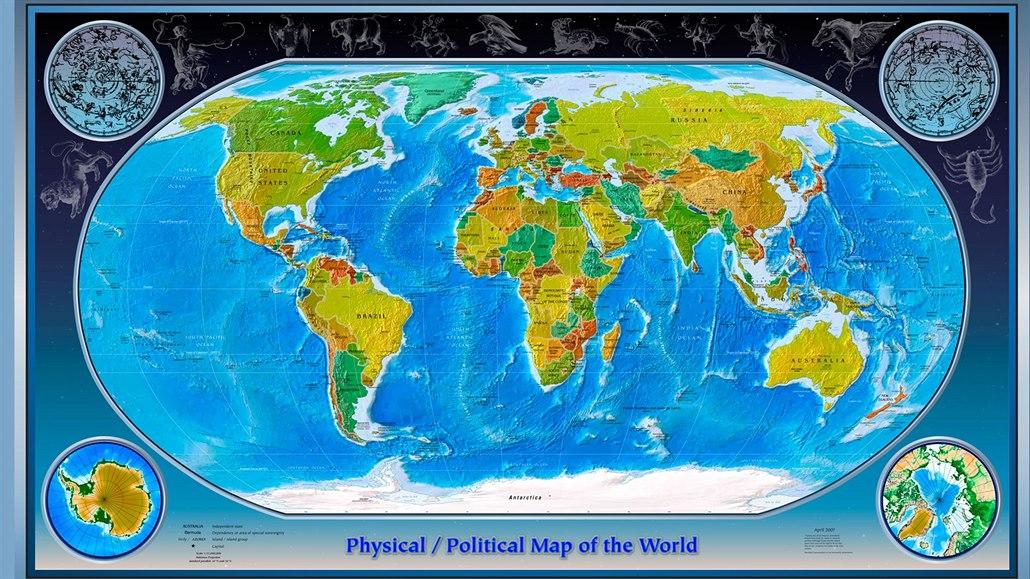 Mapa Mapa Sveta Prodej