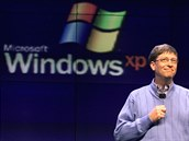 Bill Gates představil systém Windows XP v Seattlu (únor 2001)