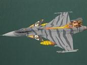 Gripen elitní 211. tygří letky z Čáslavi na cvičení Tiger Meet ve Francii