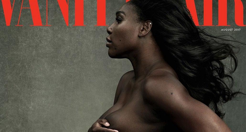 Těhotná Serena Williamsová na obálce magazínu Vanity ... a50fc290a9