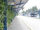 Stávající autobusové nádraží v Humpolci. V připravovaném integrovaném dopravním...