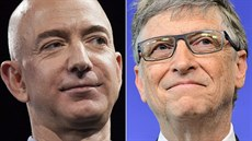 Jeff Bezos a Bill Gates