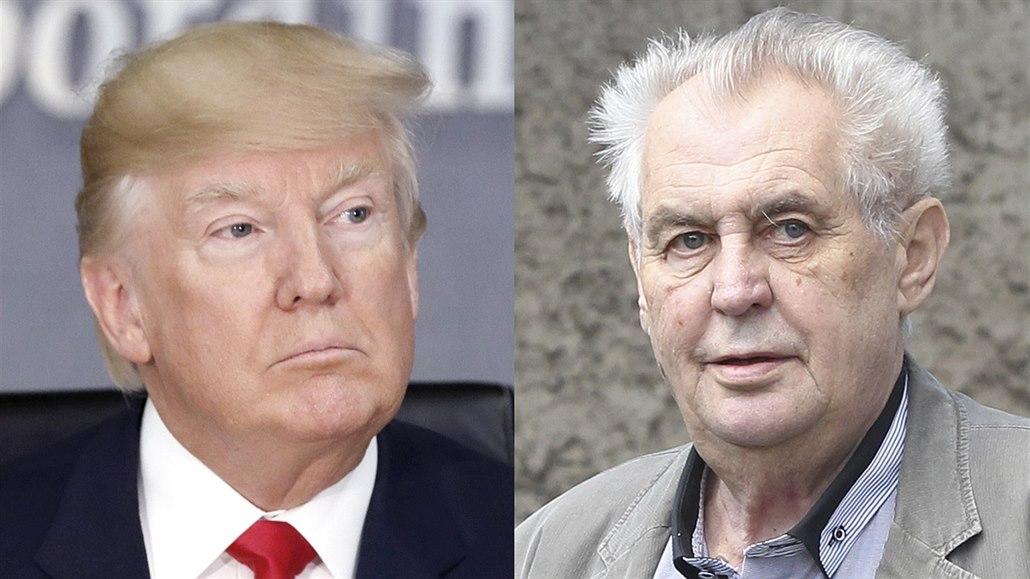 Prezidenti Donald Trump A Milos Zeman