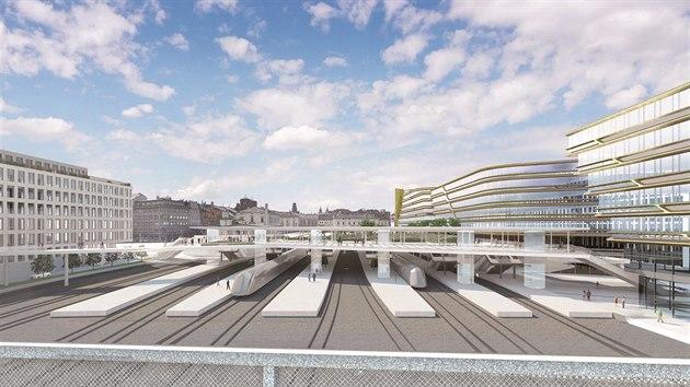Nový zastřešený vestibul nad nástupišti je součástí celkové rekonstrukce Masarykova nádraží.