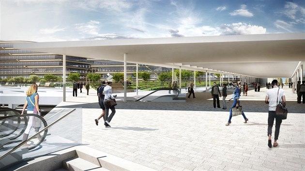Vizualizační návrh vestibulu nad Masarykovým nádražím.