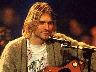 Kurt Cobain v pořadu MTV Unplugged v roce 1993