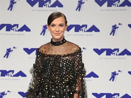 Herečka a modelka Millie Bobby Brownová na MTV Video Music Awards (Inglewood,...