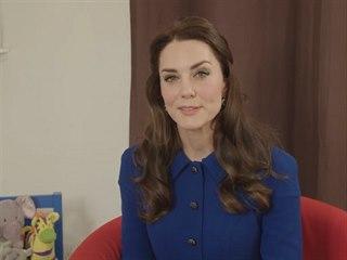 VIDEO: Vévodkyně Kate nabádá rodiče i děti, aby mluvili o svých pocitech