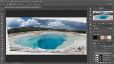 Adobe Photoshop CC - výsledné panorama
