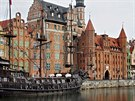 Asi nejznámější pohled na historický přístav v Gdaňsku