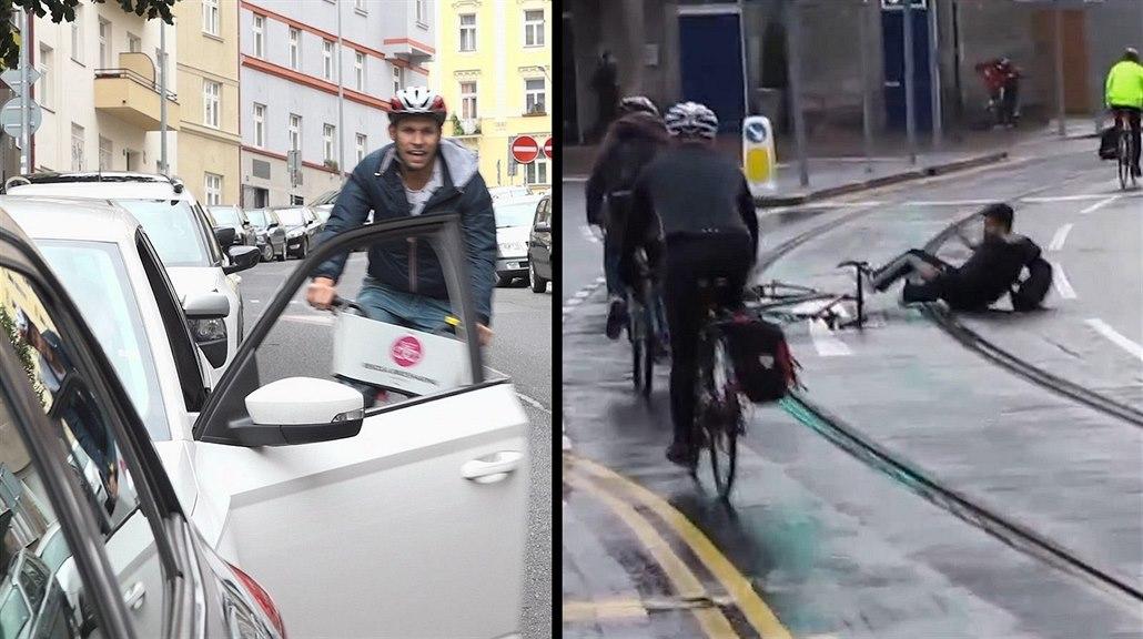 Holandský chvat zachraňuje cyklisty, nová Octavia na to má asistenta