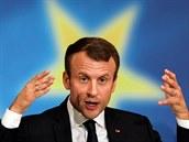 Francouzský prezident Emmanuel Macron představil  na Sorbonně v Paříži svou...